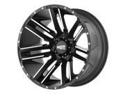Moto Metal MO978 Razor 20x10 8x170 -24mm Black/Machined Wheel Rim