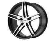 KMC KM703 19x9.5 5x120 +35mm Black/Brushed Wheel Rim