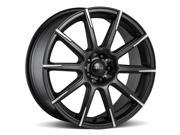 4-18 Inch Focal 452SB F-52 18x8 5x108/5x115 +40 Black/Machined Tips Wheels Rims