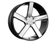 Milanni 472 Switchback 22x9.5 5x115 +8mm Black/Machined Wheel Rim