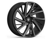 TIS 546BM 20x10 5x114.3 +45mm Black/Milled Wheel Rim