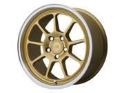 Motegi MR135 18x8.5 5x112 +45mm Gold Wheel Rim