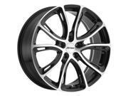 Petrol P5A 17x7.5 5x112 +40mm Black/Machined Wheel Rim