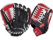 "Rawlings RCS175S 11.75"" Red Custom Series Baseball Glove w/Modified Trap-Eze Web"