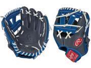 "Rawlings G11PTGR 11"" Gold Glove Gamer XLE Royal / Grey Pro Taper Baseball Glove"