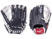 "Rawlings G115PTGW 11.5"" Gold Glove Gamer XLE Grey/White Pro Taper Baseball Glove"