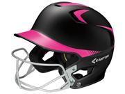 Easton Z5 Fastpitch Jr Black/Pink 2Tone Batting Helmet w/Mask Fits 6-3/8-7-1/8