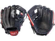 "Rawlings GGE1125NS 11.25"" Gold Glove Elite Navy / Red Baseball Glove Pro I Web"