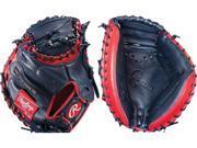 "Rawlings GGECM325NS 32.5"" Gold Glove Elite Navy / Red Baseball Catchers Mitt New"