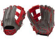 "Mizuno GMVP1250PSES4 12.5"" Smoke / Red MVP Prime SE Slowpitch Softball Glove"