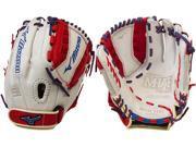 "Mizuno GMVP1200PSEF4 12"" Silver/Red/Royal MVP Prime SE Fastpitch Softball Glove"