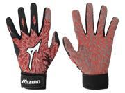 1 Pair Mizuno Vintage Blast Red Adult Small Batting Gloves New In Wrapper!