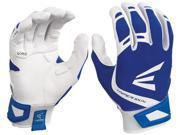 1pr Easton ZF7 VRS Hyperskin Womens Medium White/Royal Fastpitch Batting Gloves