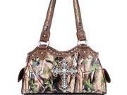 Camouflage Cross Western Handbag