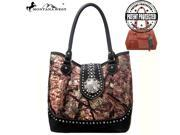 HF01G 8329 Montana West Western Concho Concealed Gun Carry Handbag Camo Collection