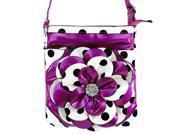 K 8200 Flower Style Polka Dot Cross Body Bag
