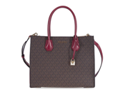 Michael Kors Large Mercer Logo Tote - Brown / Mulberry  30S7GM9T3V-243 9SIA0186UF1822