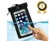 WISETIGER Waterproof Pouch Universal Waterproof Case up to 6 inch IPX8 Certified to 100 Feet Lifetime Warranty for iPhone 6 6 Plus 5 Samsung Galaxy S6 S5 Note 4 3 HTC One M9 M8 LG Black