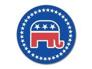 Election 2016 Republican Elephant 4x4 Round Decal