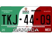 Mexico Oaxaca Photo License Plate Free Personalization on this plate