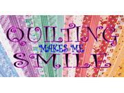 Quilting Makes Me Smile Photo License Plate