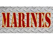 Marines Diamond Plate Photo License Plate 9SIA5VG2F91945