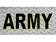 Army Diamond Plate Photo License Plate 9SIA5VG2F92895