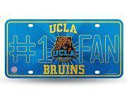 UCLA Bruins 1 Fan Glitter License Plate