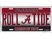 Alabama Roll Tide Metal License Plate