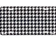 Houndstooth - White and Black License Plate Free Personalization on this plate