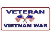 Veteran Vietnam War Photo License Plate 9SIA5VG2F92322