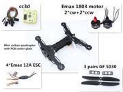 Mini QAV250/300 Carbon Quadcopter w/ cc3d Emax 1806 motor Emax-12A Esc GF 5030