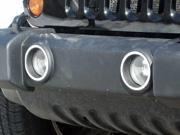 2007-2014 Jeep Wrangler 2pc Luxury FX Chrome Front Foglight Trim Rings