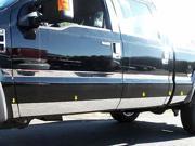 08 10 Ford Super Duty LB EXT 10p Luxury FX Chrome Accent Door Molding Trim