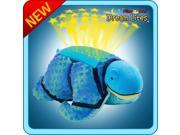 Authentic Pillow Pets Snazzy Sea Turtle Blue Dream Lites Toy Gift