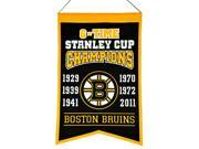 Hockey Boston Bruins 14x22 Heavy Wool with Embroidery Sport Team Logo 6 Time Stanley Cup Champions Banner #4002 9SIA5WD53W0559