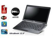 Dell Latitude e6220 Notebook - Intel i5 2.50Ghz, 4GB DDR3 RAM, 500gb HD, HDMI, WEBCAM,   Windows 7 Pro 64 Bit  UltraBook 1 Year Warranty