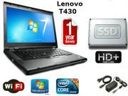 "Lenovo Thinkpad T430 - i5-3320M 2.6GHz - 16GB Memory - 256 GB SSD - 14"" HD+ 1600x900 Windows 7 Pro 64 - 1 YEAR WARRANTY"