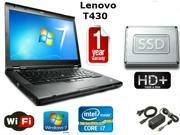 "Lenovo Thinkpad T430 - i7-3520M 2.9GHz - 16GB Memory - 160GB SSD - 14"" HD+ 1600x900 Windows 7 Pro 64 - 1 YEAR WARRANTY"
