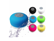 Mini Water Resistant Bluetooth 3.0 Shower Speaker, Handsfree Portable Speakerphone with Built-in Mic, 6hrs of playtime, Control Buttons and Dedicated Suction Cu 9SIV1AM6GM6858