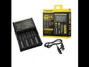Nitecore D4 Digicharger LCD Display Battery Nitecore Charger Intelligent 2.0 Fit LI-ion 18650 14500 16340 26650
