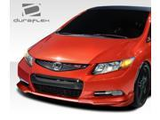 2012-2013 Honda Civic 2DR Duraflex H-Sport Front Add On Bumper Extensions - 2 Piece