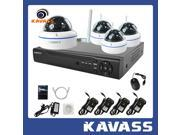 KAVASS Wifi Kit 4CH Surveillance 1TB HDD NVR Motion Detection with 4 HD 720P Wifi IP Home Security CCTV Cameras