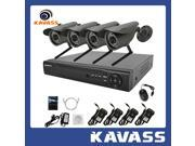 KAVASS Wireless Security System with 4 Channel NVR H.264 HDMI 1TB HDD and 4 IR Night Vision IP Network CCTV Wifi Cameras