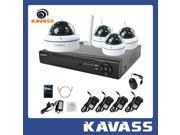 KAVASS 4 Channel Security Surveillance NVR HDMI with 4 HD 720P Night Vision Wireless IP Network Cameras