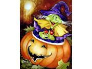 Carolines Treasures PJC1004GF Bewitched And Glowing Halloween Flag Garden Size