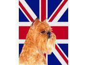 Brussels Griffon with English Union Jack British Flag Flag Garden Size SS4936GF