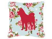 Akita Shabby Chic Blue Roses   Canvas Fabric Decorative Pillow BB1082 9SIA5XC3PN8215