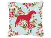 Greyhound Shabby Chic Blue Roses   Canvas Fabric Decorative Pillow BB1086 9SIA5XC3PN8370