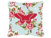 Butterfly Shabby Chic Blue Roses   Canvas Fabric Decorative Pillow BB1030 9SIA5XC3PM3512